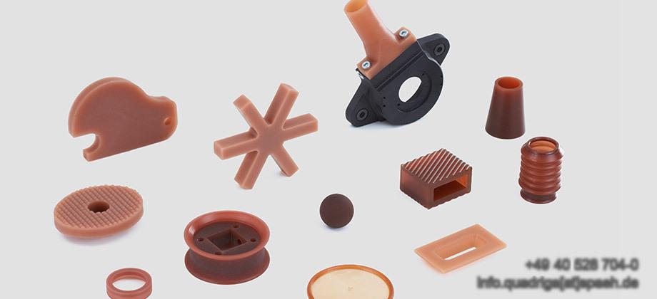QUADRIGA Produktpalette aus Polyurethan und Vulkollan
